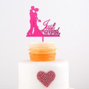 Cake Topper mit Silhouette und Datum