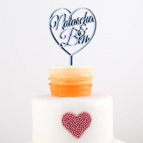 Cake Topper Namen im Herz