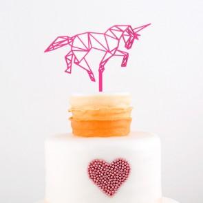 Cake Topper Origami Einhorn