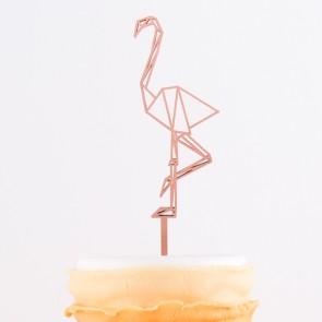Cake Topper Origami Flamingo