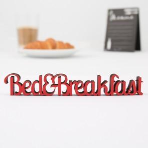 Dekoschriftzug Bed&Breakfast