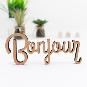 """Dekoschriftzug """"Bonjour"""""""