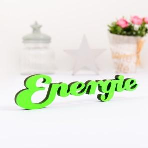 Dekoschriftzug Energie