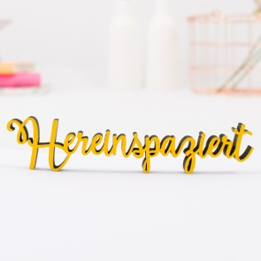 """Dekoschriftzug """"Hereinspaziert"""""""