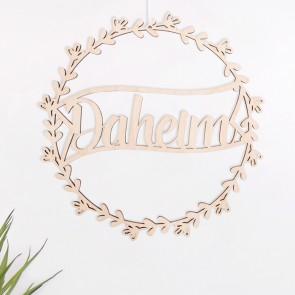 "Blumenkranz ""Daheim"" aus Birkenholz"