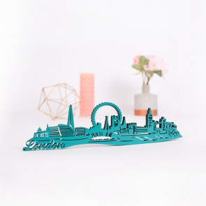 3D-Skyline London aus Holz
