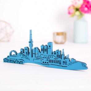 3D-Skyline München aus Holz