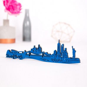 3D-Skyline New York aus Holz