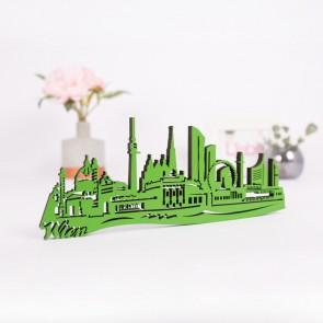 3D-Skyline Wien aus Holz