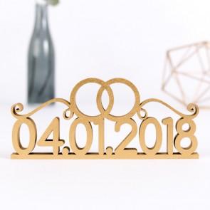 Datum mit Eheringen