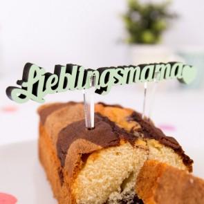 Halter für Kuchen Dekoschriftzug