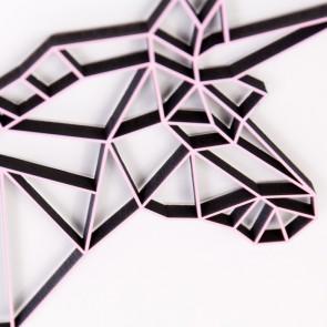 ORIGAMI 3D-Motiv Einhornkopf