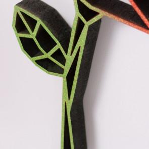 ORIGAMI 3D-Motiv Rose 2-farbig