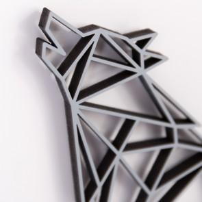 ORIGAMI 3D-Motiv Wolf heulend