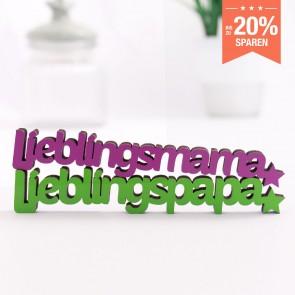 3D-Schriftzug Set Lieblingsmama Lieblingspapa