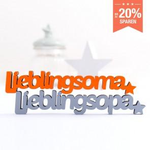 3D-Schriftzug Set Lieblingsoma Lieblingsopa