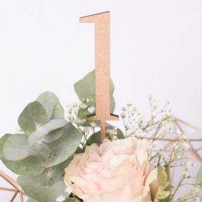 Tischnummern aus Holz - Zahlen