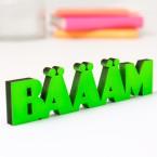3D-Schriftzug Bäääm