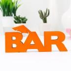 3D Schriftzug Bar