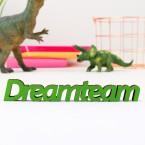 3D-Schriftzug Dreamteam