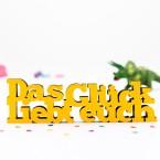3D-Schriftzug Das Glück liebt euch