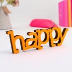 Dekoschriftzug happy