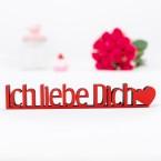 Dekoschriftzug Ich liebe dich