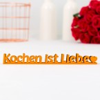 """Dekoschriftzug """"Kochen ist Liebe"""""""