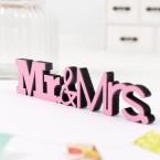 3D-Schriftzug Mr. & Mrs.