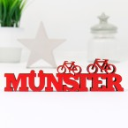 3D-Schriftzug Münster mit Fahrrad