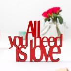 3D-Schriftzug All you need is love