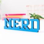 3D-Schriftzug Nerd