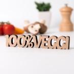 Dekoschriftzug 100%-Veggie