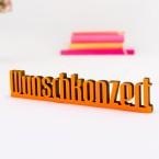 3D Schriftzug Wunschkonzert