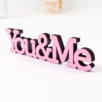 3D-Schriftzug You & Me