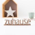 3D-Schriftzug Zuhause