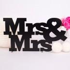 Gästebuch aus Holz zur Hochzeit Mrs&Mrs
