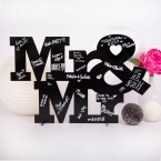 Gästebuch aus Holz zur Hochzeit Mr&Mr