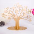 Gästebuch Baum aus Holz mit Herzen zum Beschriften