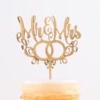 Cake Topper Mr. & Mr.s mit Ringen