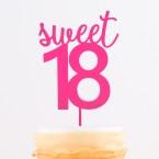 Cake Topper sweet 18