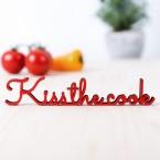 """Dekoschriftzug """"Kiss the Cook"""""""