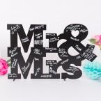 Gästebuch aus Holz zur Hochzeit Mr&Mrs