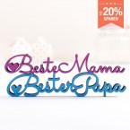 Dekoschriftzug Set Beste Mama Bester Papa