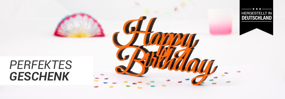 Happy Birthday Dekoschriftzug