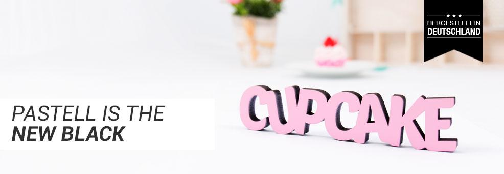 Cupcake Dekoschriftzug