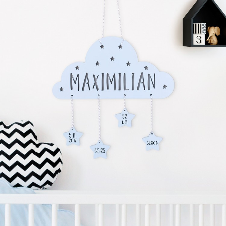 Babyset Wunschname Wolke
